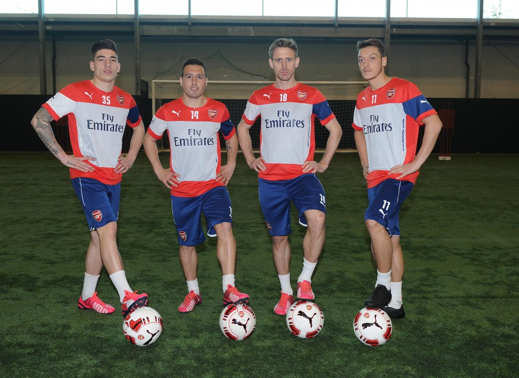 Bellerin, Cazorla, Monreal, Ozil (c) Arsenal Football Club