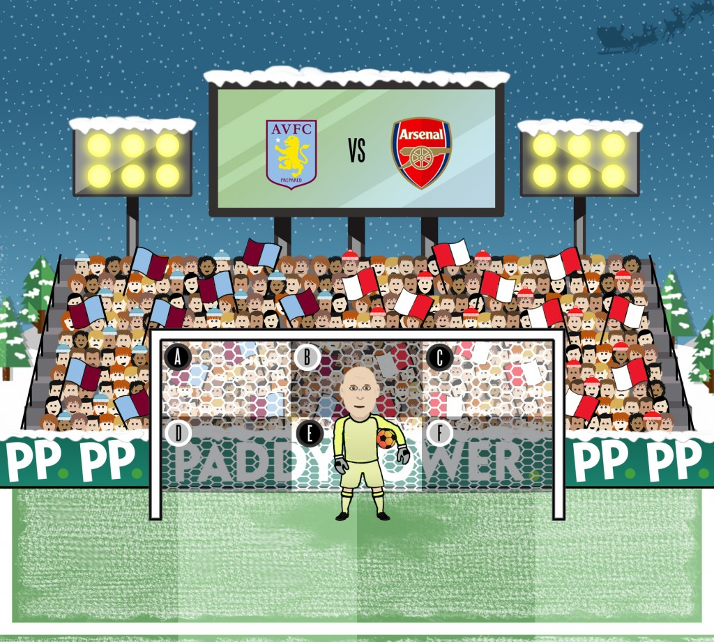 Guzan - Villa vs Arsenal (Christmas)